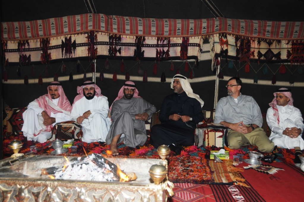 otoole in Qassim, Saudi Arabia  with the governor and event staff